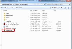 File giải nén phần mềm
