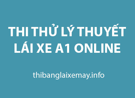thi thử lái xe a1 online