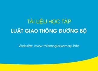 tai-lieu-hoc-tap-luat-giao-thong-duong-bo